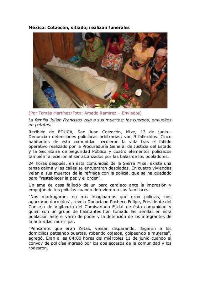 México: Bañan de sangre a Cotzocón