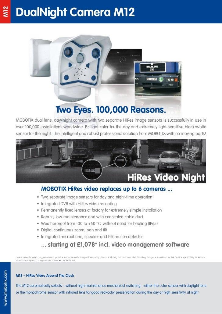DualNight Camera M12M12                                                        Two Eyes. 100,000 Reasons.                 ...