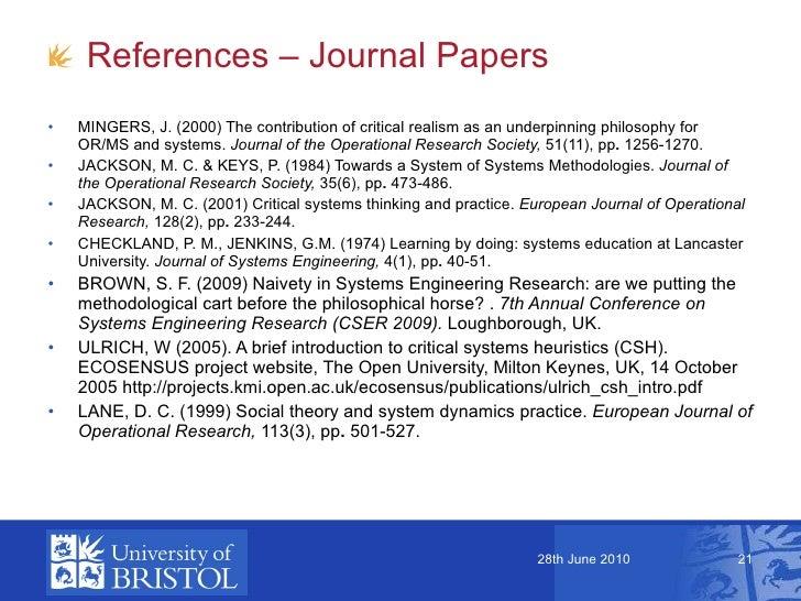 Critical Research Paper