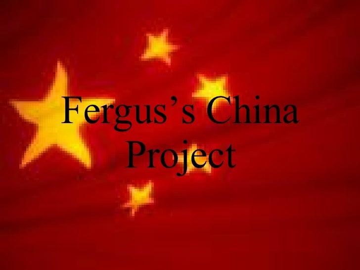 Fergus's China Project