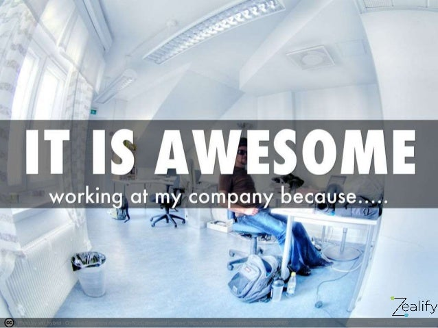 My company is awesome because...