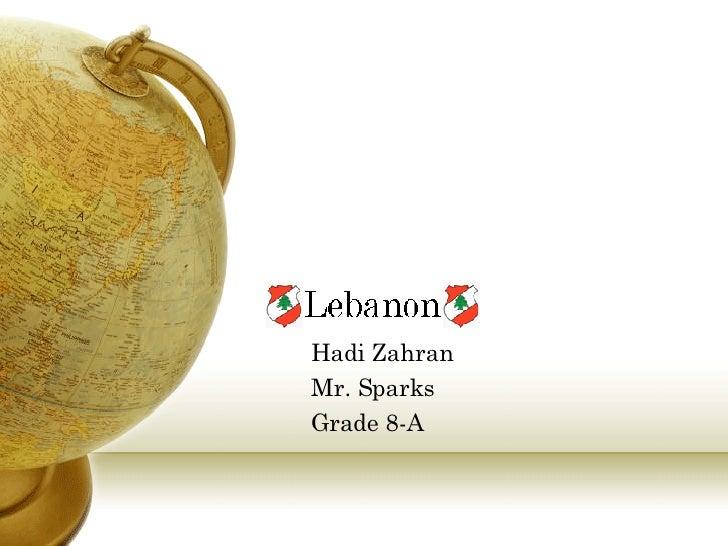 Hadi Zahran Mr. Sparks Grade 8-A