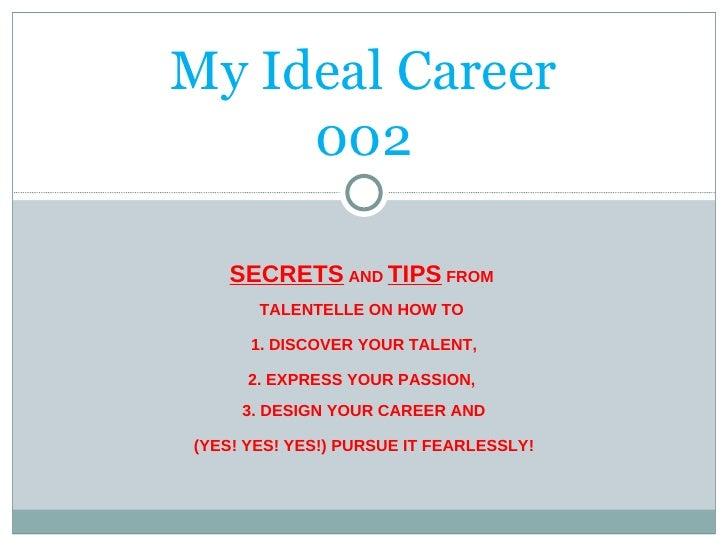 my ideal career webinar
