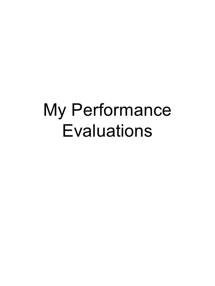 My Performance Evaluations