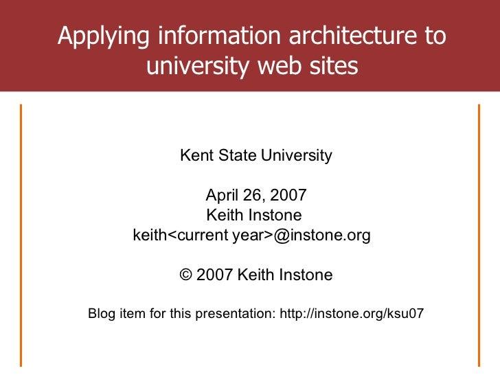 My presentation at Kent State IAKM