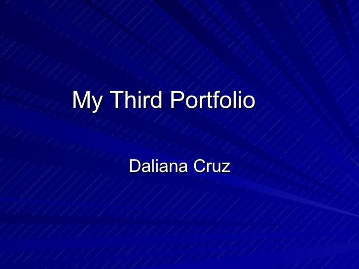My Third Portfolio Daliana Cruz