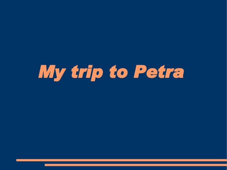 My trip to Petra