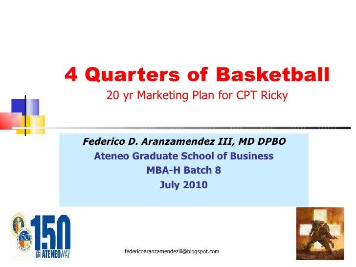 My 20 year marketing plan