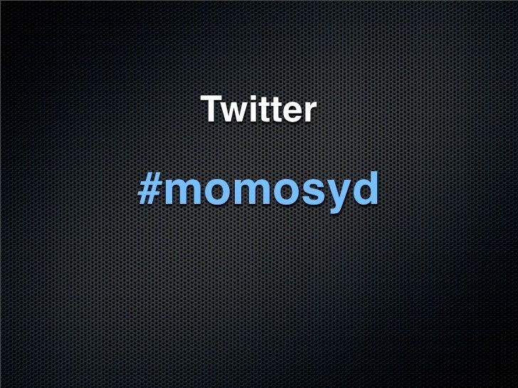 Twitter  #momosyd