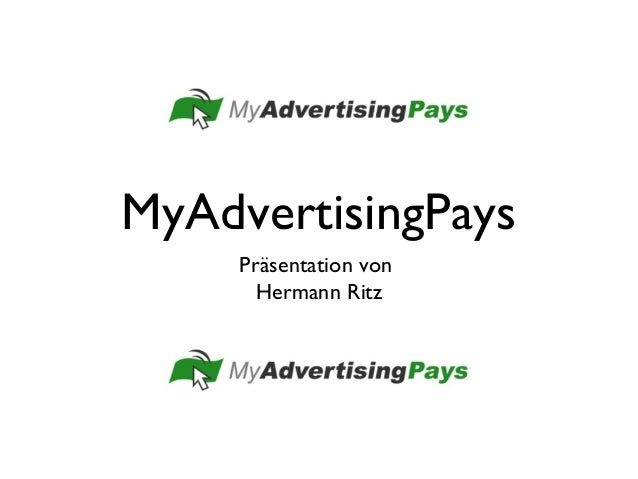 MyAdvertisingPays Präsentation von Hermann Ritz