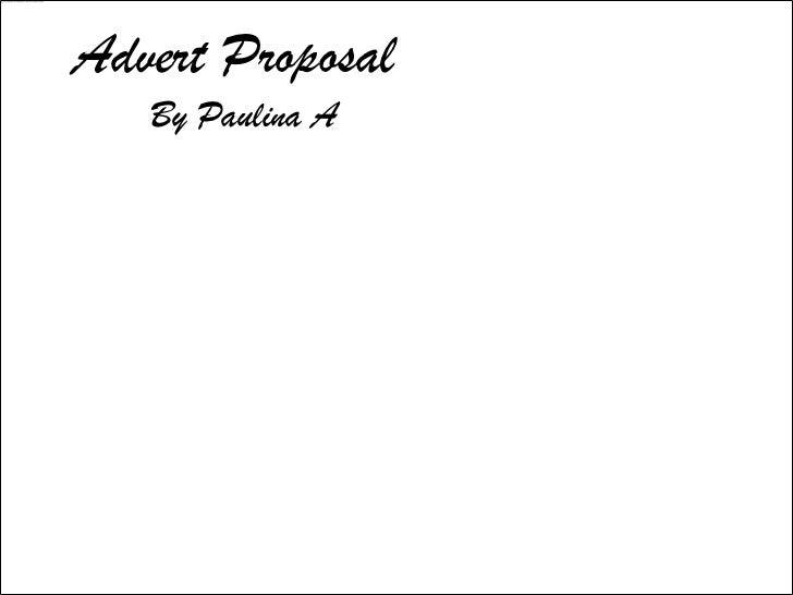 My advert proposal