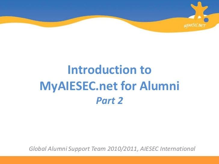 My aiesec.net for alumni tutorial pt2final