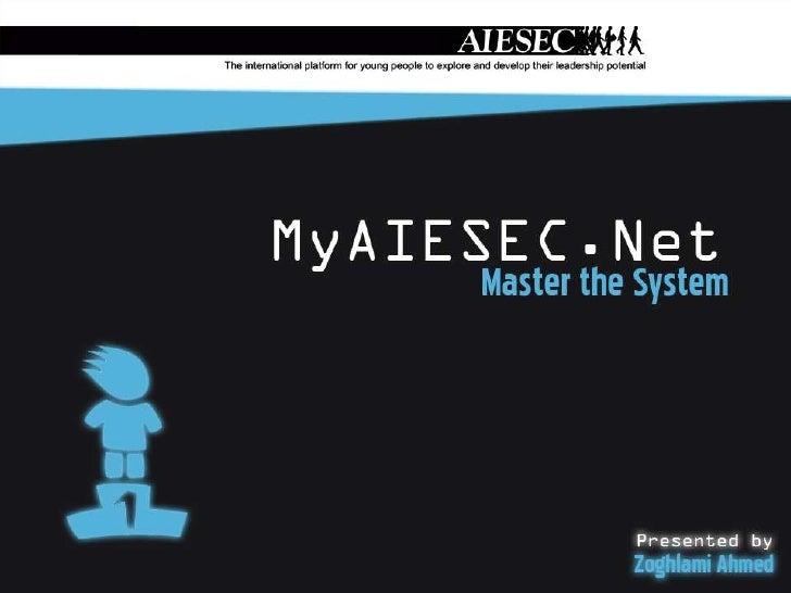 MyAIESEC.NET  Presentation