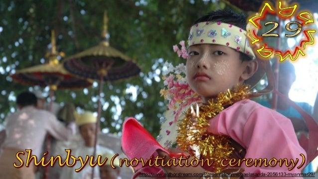 Shinbyu (novitiation  ceremony)