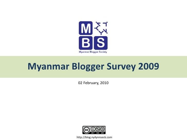Myanmar Blogger Survey 2009