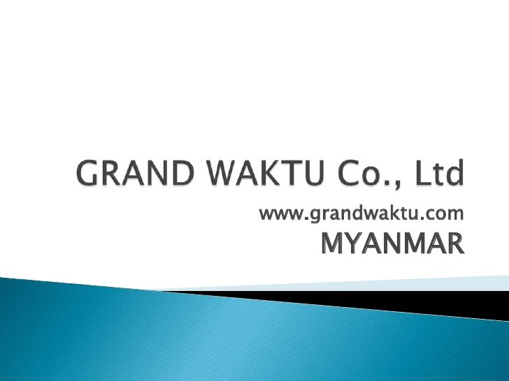 Myanmar company formation, doing business in myanmar