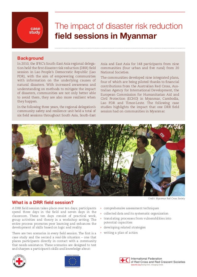 The impact of disaster risk reduction field sessions in Myanmar Background In 2010, the IFRC's South-East Asia regional de...