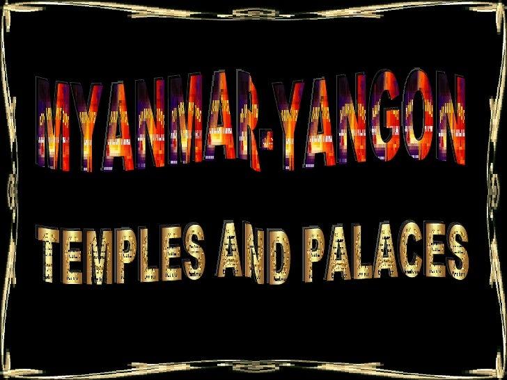 Myanmar Yangon. Jr Cordeiro
