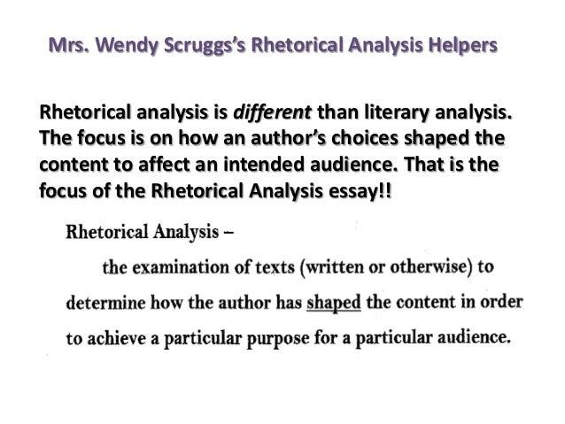 Ap english rhetorical analysis essay