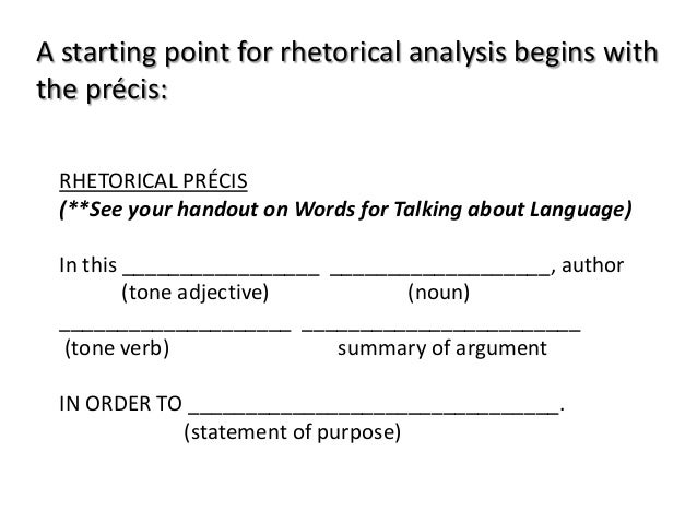 Rhetorical Precis Template Image Titled Write A Precis Step How To