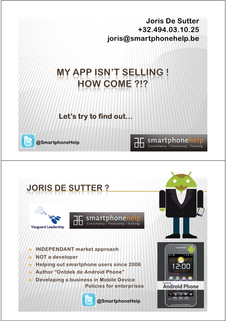 Joris De Sutter                                    +32.494.03.10.25                            joris@smartphonehelp.be    ...