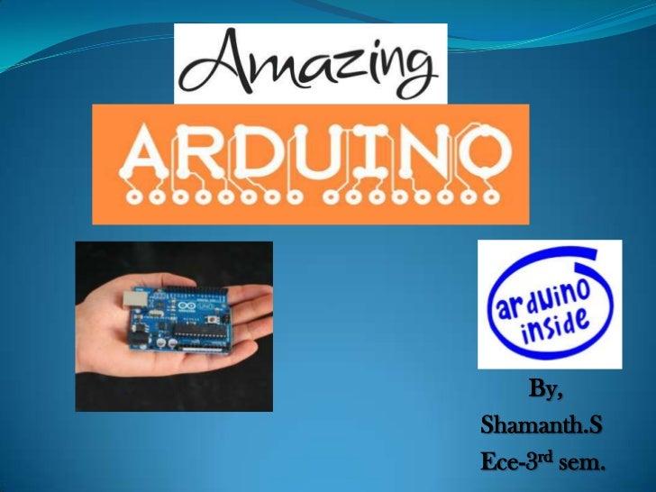 My arduino presentation