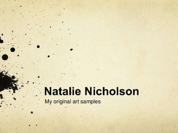Natalie Nicholson Art Work