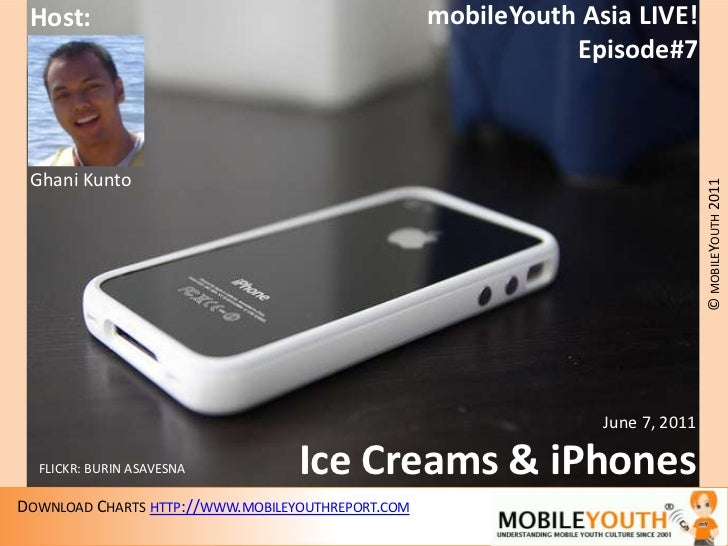 mobileYouth Asia LIVE!<br />Episode#7<br />Host:<br />Ghani Kunto<br />June 7, 2011<br />Ice Creams & iPhones<br />FLICKR:...
