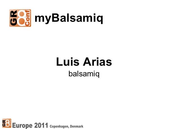 GR8Conf 2011: myBalsamiq