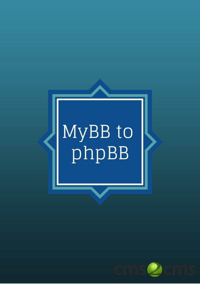 MyBB to phpBB