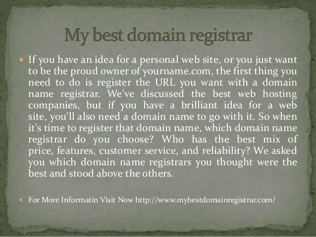 If you have an idea for a personal web site, or you just want to be the proud owner of yourname.com, the first thing you...