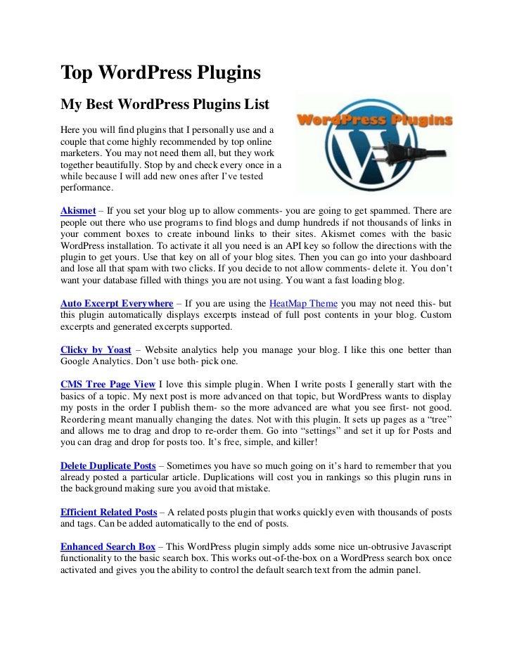 THE BEST Wordpress SEO Plugins