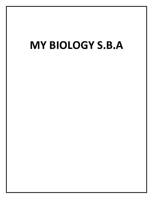 BIOLOGY SBA (LAB)