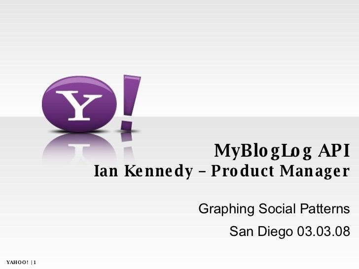 MyBlogLog API Launch - GSP West 2008