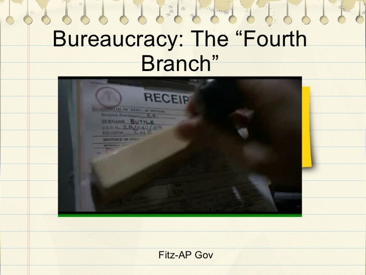 "Fitz-AP Gov Bureaucracy: The ""Fourth Branch"""
