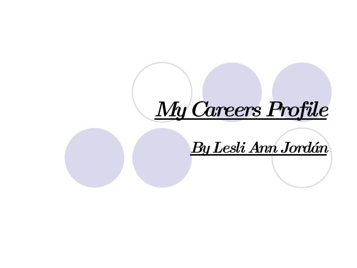 My Careers Profile