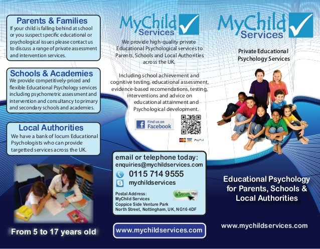MyChild Services Information Sheet (755kb)