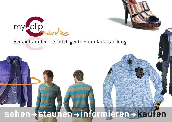 Verkaufsfördernde, intelligente Produktdarstellung     sehen staunen informieren kaufen