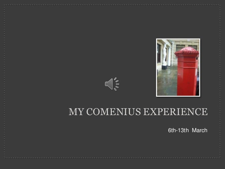 My comenius experience