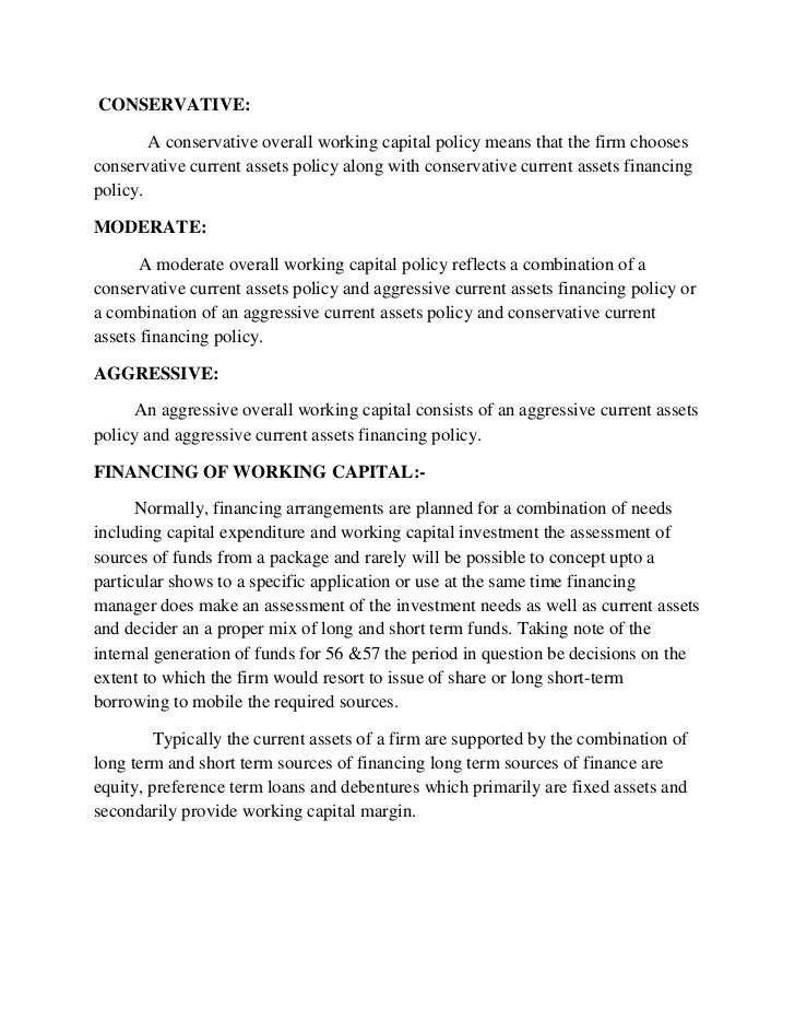 working capital essay