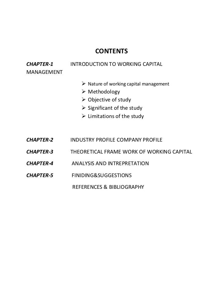 literature review on working capital management project Hence, application notes, a review the literature review of the deloitte working  capital management project profiles financial highlights review.
