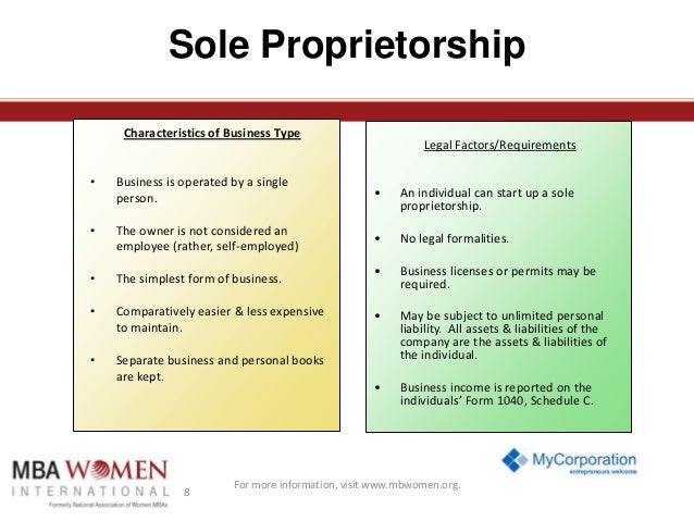 longevity and continuity of a sole proprietorship The advantages of corporate ownership over sole proprietorship business continuity although a corporation is a legal person, it does not die like a real person.