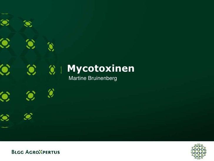 Mycotoxinen<br />Martine Bruinenberg<br />