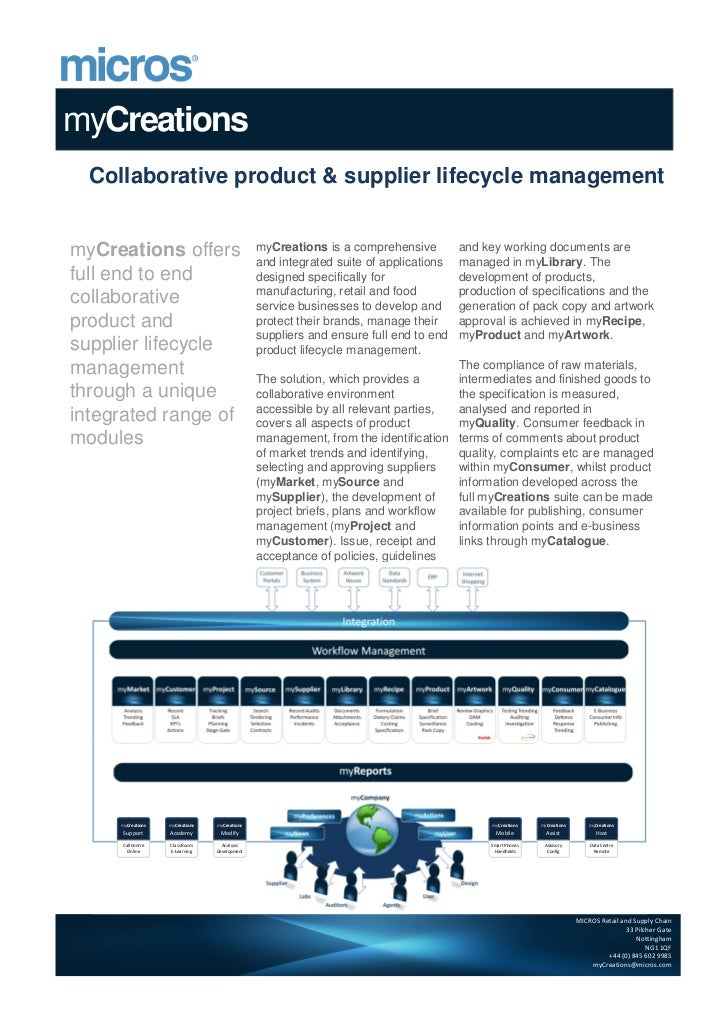 myCreations  Collaborative product & supplier lifecycle managementmyCreations offers                             myCreatio...
