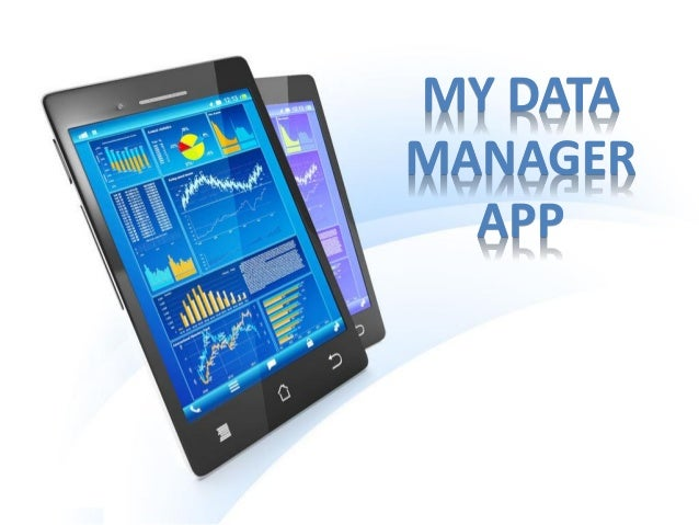 My data manager app