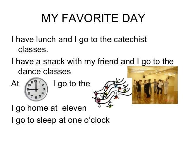 My favorite day essay