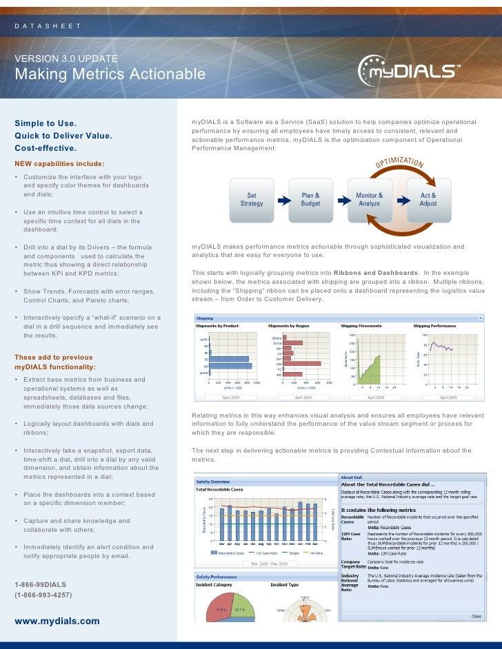 myDIALS v3.0 Data Sheet
