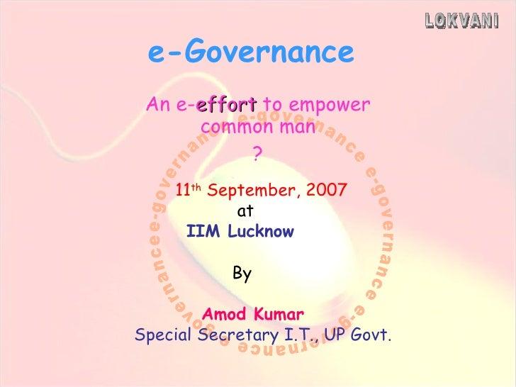 My Dna Amod Kumar Ias Sitapur E Governance Initiative P1a