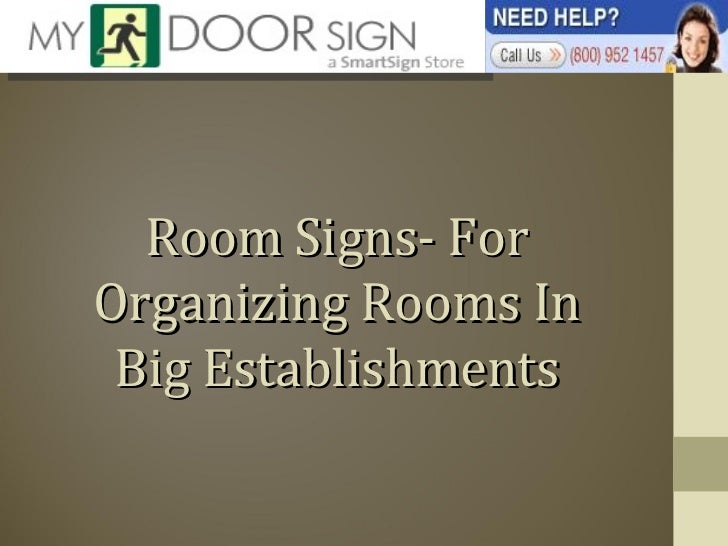 Room Signs- For Organizing Rooms In Big Establishments