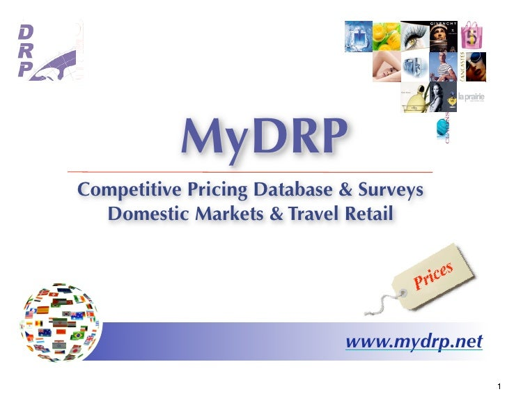 MyDRP Competitive Pricing Database & Surveys   Domestic Markets & Travel Retail                                  www.mydrp...